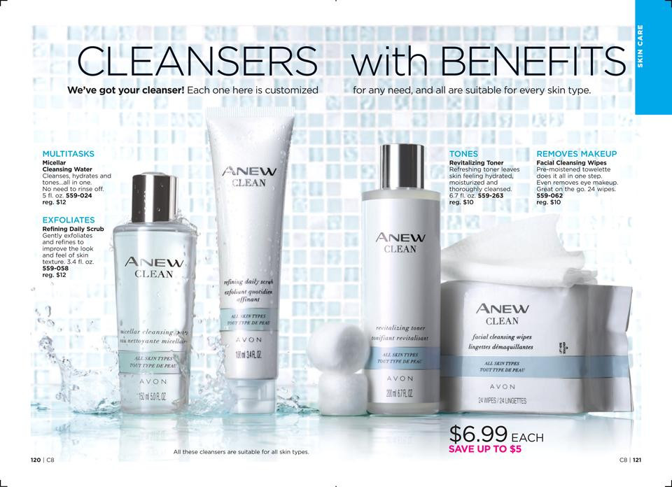 AVON face cleansers with benefits