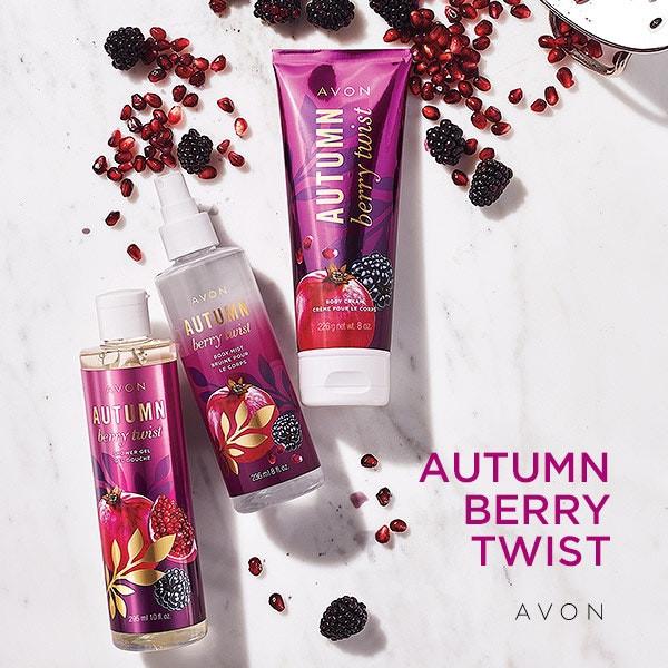 avon fall bath and body - autumn berry twist