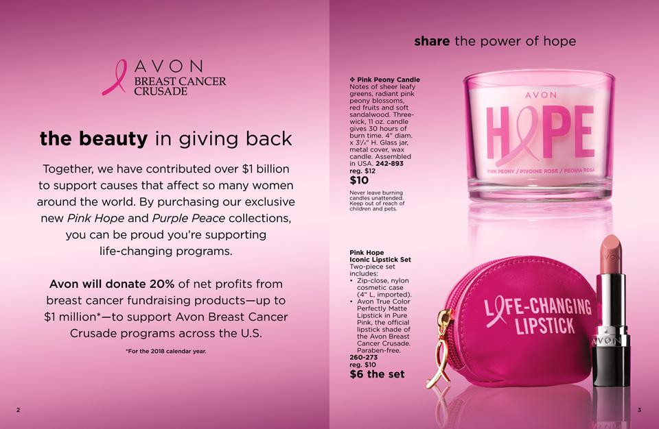 avon breast cancer awareness products