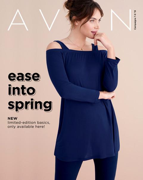 avon brochure campaign 7-8 2019 ease into spring