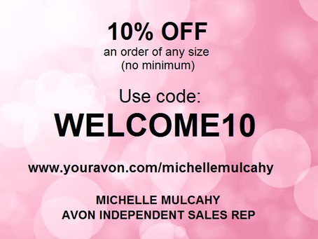 AVON Discount Code for 10% Off!