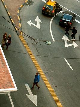 lentes sobre a rua