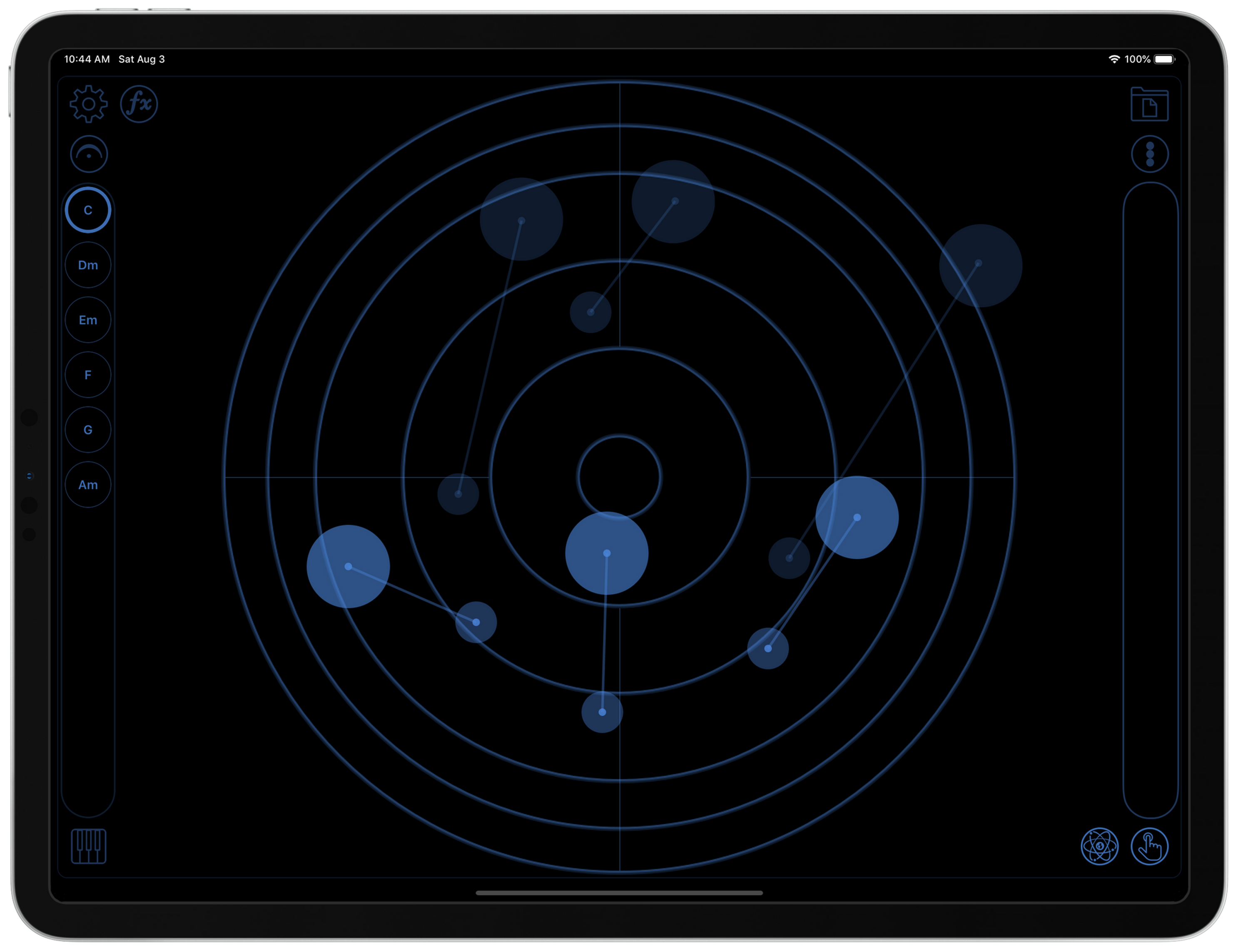 touchscaper - a touchable instrument for iOS