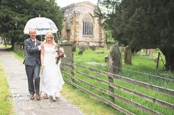 Kirkby Malham Church wedding day