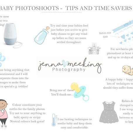Tips and timesavers - baby photoshoots
