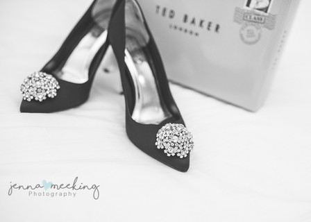 Ted Baker wedding shoes for bride taken at natural retreats richmond, yorkshire