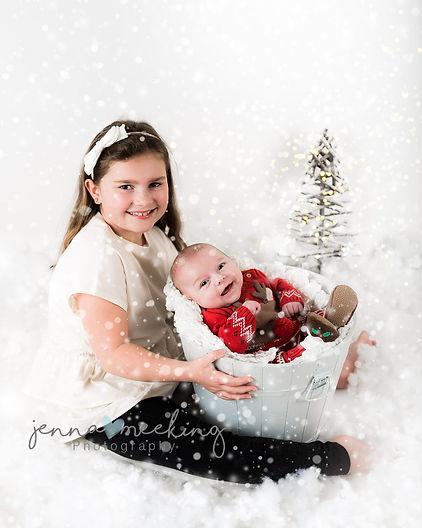 christmas mini children photoshoot leeds