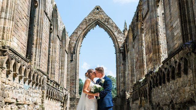 Wedding Photography Bolton Abbey The Priory Church ruins