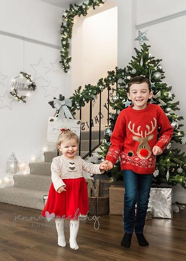christmas mini children baby photoshoot