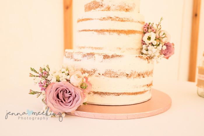 naked cake rustic wedding yorkshire