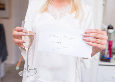 A letter to the bride from the groom - showing off her nails too