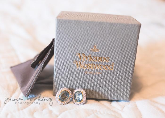 Vivienne Westwood earings - wedding