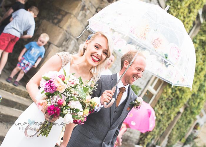 Kirkby Malham Church bride and groom