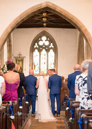 At the chuch down the isle