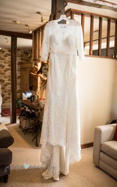 Wedding dress, Harome, North Yorkshire