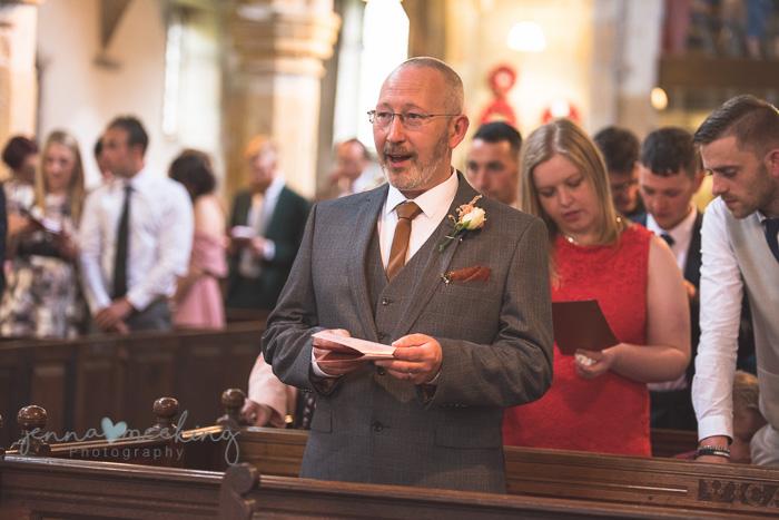Kirkby Malham Church wedding guests