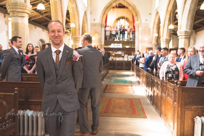 Kirkby Malham Church groom waiting