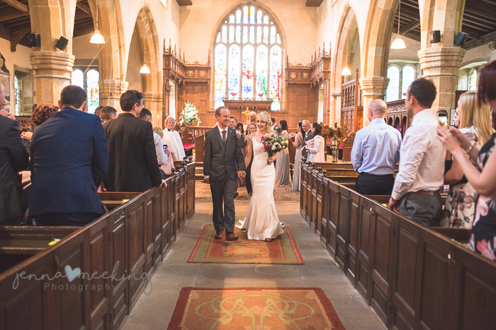 Kirkby Malham Church leaving wedding