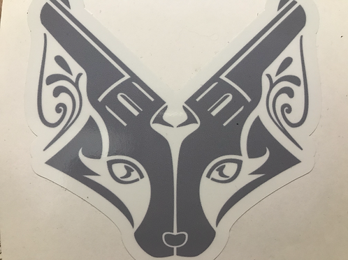 Foxes & Firearms Trademark Logo 4x4 Stickers