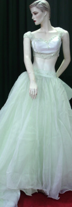 PN-02 (M) White with Green & Long tail -