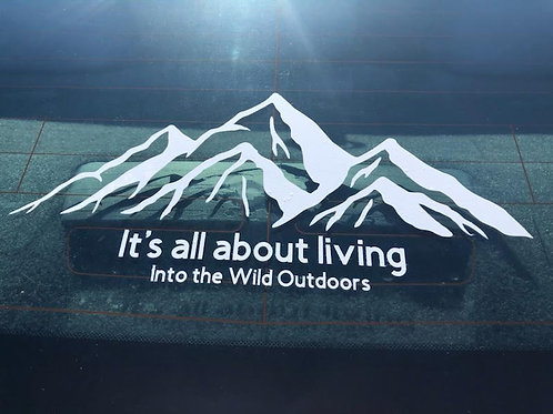 It's all about living Decal 6 x 11.5