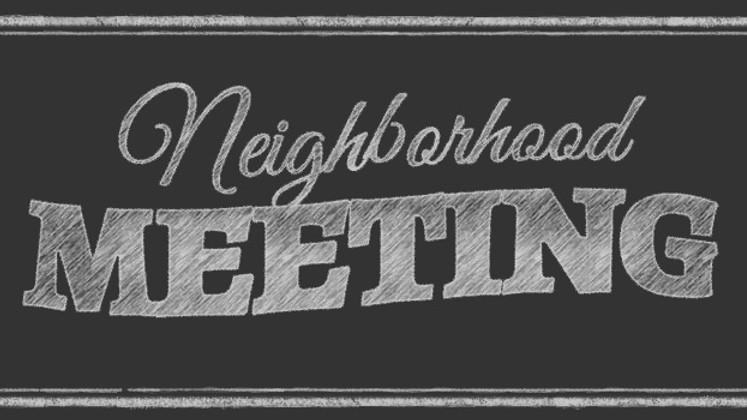 July Neighborhood Meeting