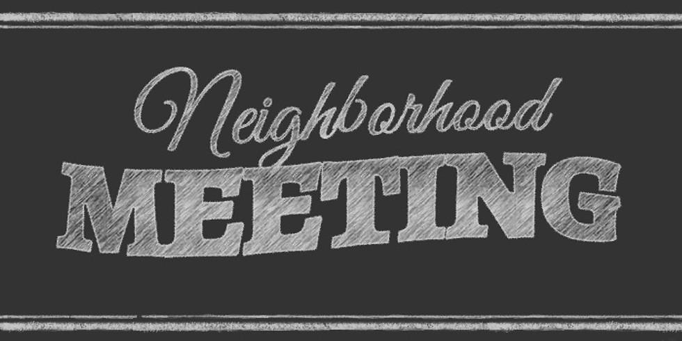 August Neighborhood Meeting