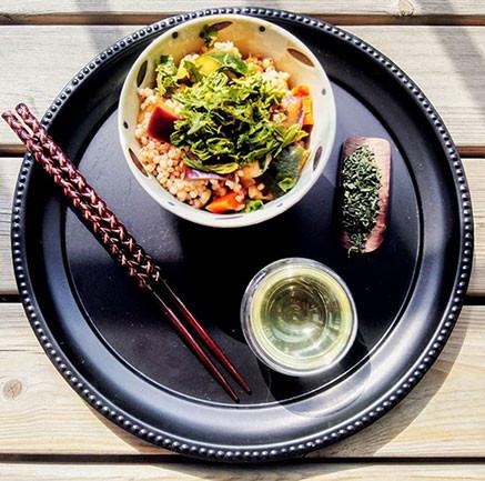 ochazuke topping made using kabusecha shiozuke tea leaves