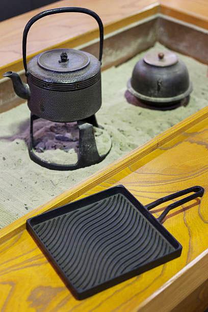 nanbu cast iron items on display