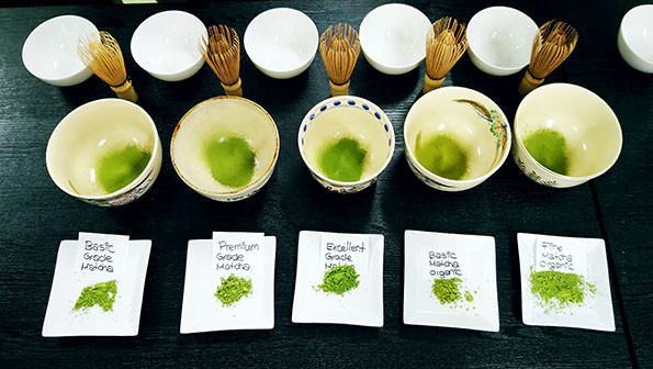The most common matcha grades used within the industry are ceremonial, Premium and culinary grade. However, each tea producer can choose how to grade their matchas sinde the system is not standarized.