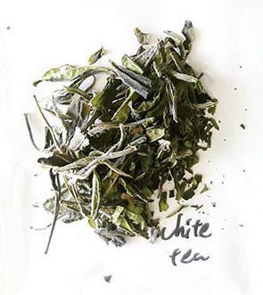 white japanese tea broken into pieces shou mei from kyoto