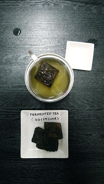 Brewing Pu erh like tea Goishicha from Kochi in Japan