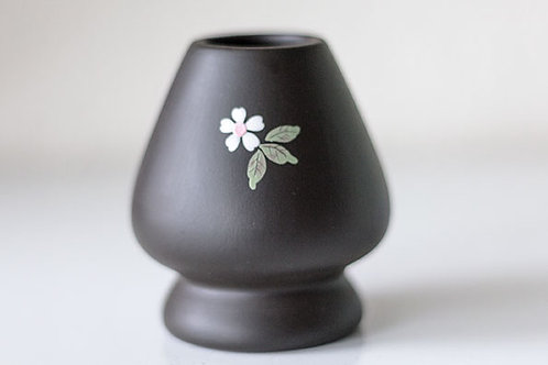 Chasen Holder Kusenaoshi Tokoname Flower