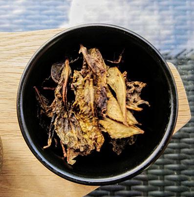 awabancha pickled leaves fermented dark japanese tea