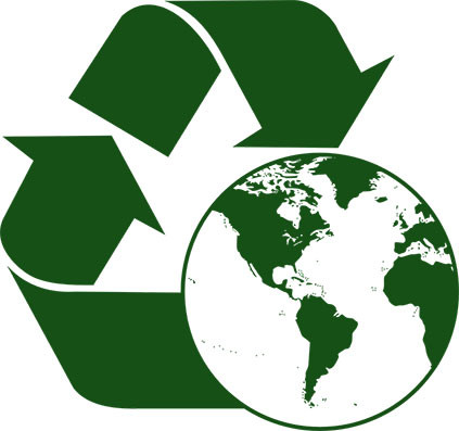 recycling logo with an orbe