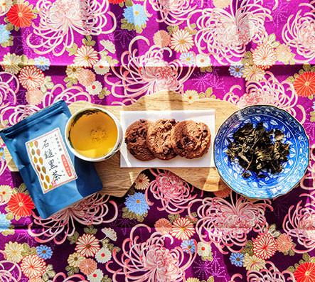 dark fermented japanese tea ishizuchi kurocha cookies