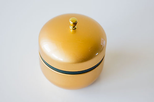Tea Caddy Metallic Plain Colour