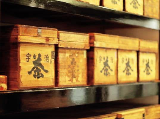 Japanese wooden tea boxes called chabako