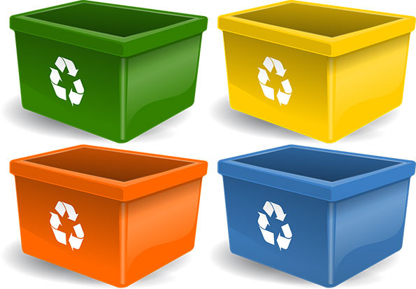 recycling boxes vector art