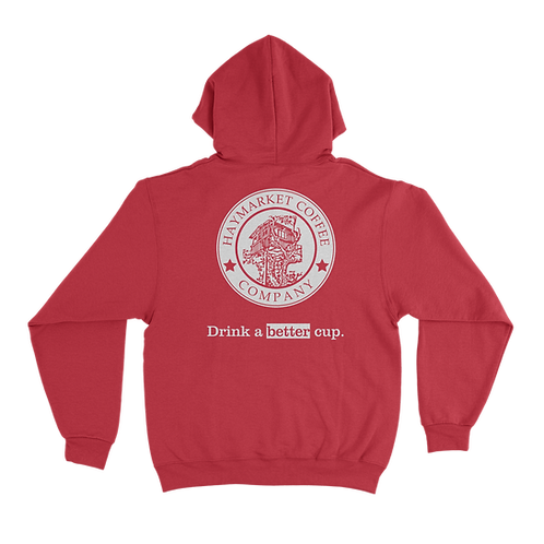 HCC Pullover Hoodie Red BACK