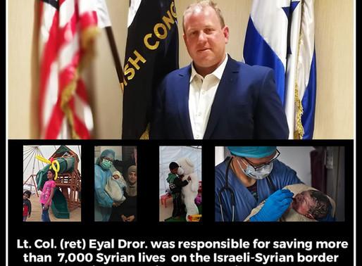 """סא""""ל בדימוס אייל דרור בסבב הרצאות באנגליה אודות הסיוע ההומניטרי של צה""""ל במהלך מלחמת האזרחים בסוריה"""