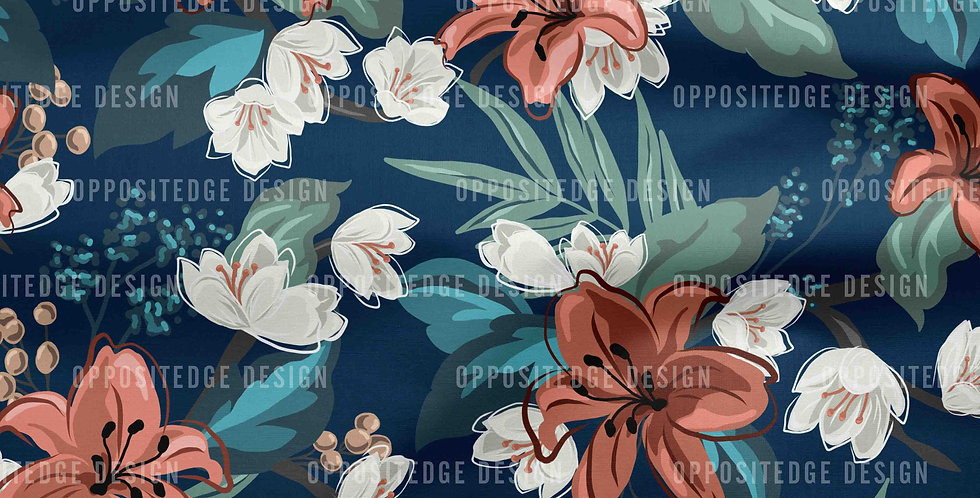 Carnation Chintz - Commercial Use
