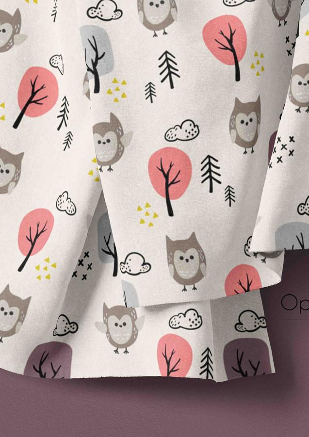 Woodland Animals Owl Beige - Girls-01.jp