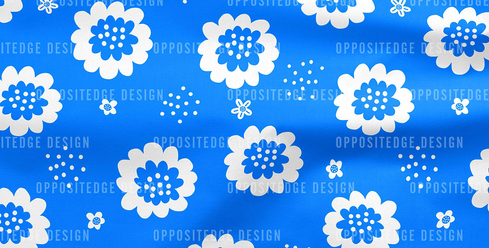 Enchanted Floral in Blue - Commercial Use