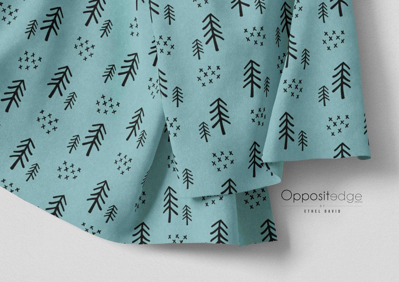 Woodland Trees - Teal 01.jpg