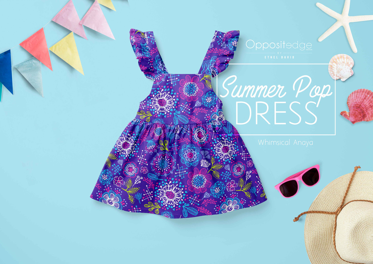 Whimsical Anaya - Purple 01 FlutterDress