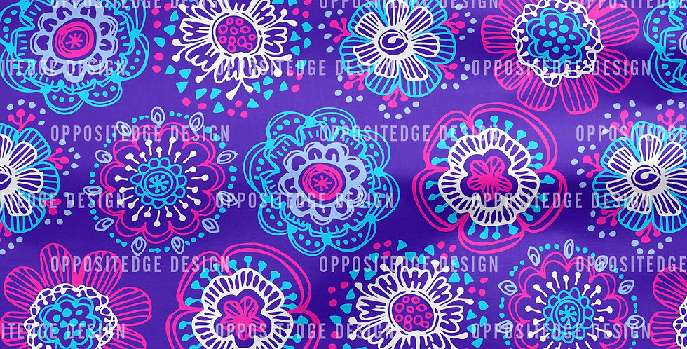 Whimsical Anaya Floral Purple - Standard License