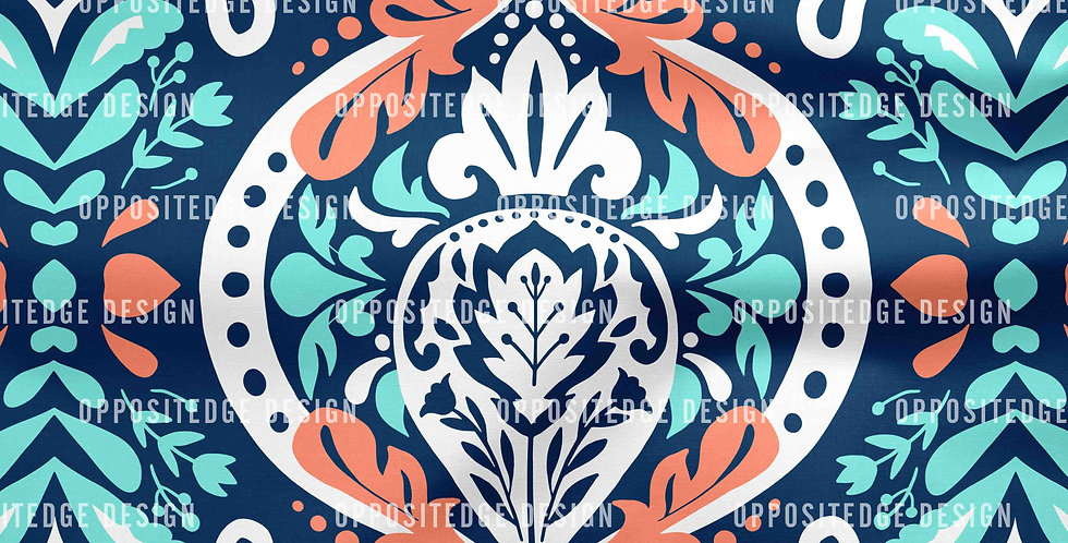 Beatrice Damask Sea Foam - Standard License