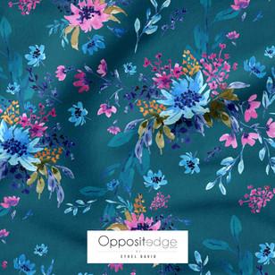 Giacinta Spring Blossom -  Dark Teal 01.