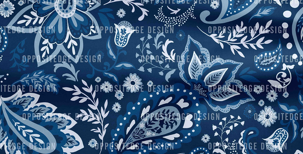 Blue Soma Paisley - Commercial Use